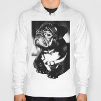 pug Hoodies featuring Pug by Falko Follert Art-FF77