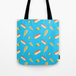 Different Ways to Eat a Hot Dog Tote Bag