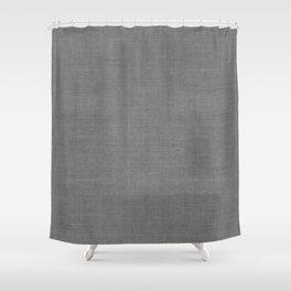 GRAY LINEN MUDCLOTH Shower Curtain