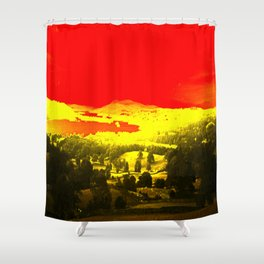 Digitally Altered Photo of Lake Windermere Shower Curtain