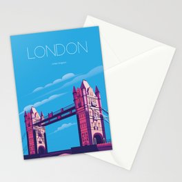 London travel poster Stationery Cards