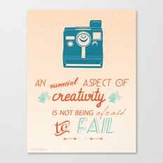 Creativity Inspirational Quote Canvas Print