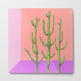 Three Amigos Cacti Metal Print