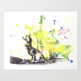 The Mythical Jackalope  Art Print