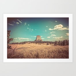 Devil's Tower National Monument Wyoming Art Print