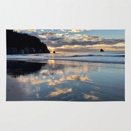 Sunset reflection Rug