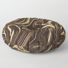 Brown Gold Marble #1 #decor #art #society6 Floor Pillow