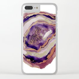 geode art, geode agate, agate art, contemporary art, abstract geode, abstract art, cabin art, cabin Clear iPhone Case