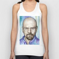 walter white Tank Tops featuring Walter White Portrait by Olechka