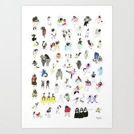 Dozens of Animal Denizens Art Print