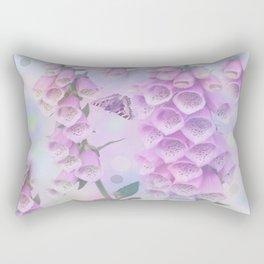 Pastel painterly foxgloves Rectangular Pillow