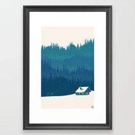 nordic ski scenic wonderland  Framed Art Print