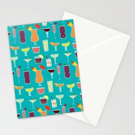 Retro Cocktails Stationery Cards