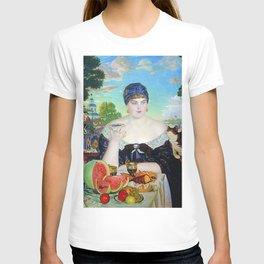 MERCHANT'S WIFE AT TEA - BORIS KUSTODIEV T-shirt