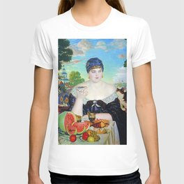 MERCHANT'S WIFE AT TEA - BORIS KUSTODIEV T-shirt