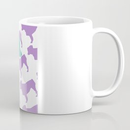 Australian Shepherd with Blue/Purple Silhouettes Coffee Mug