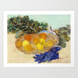 Still Life of Oranges and Lemons Art Print