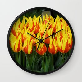 Fire Tulips Wall Clock