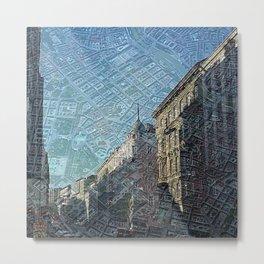 Vienna on Maps Metal Print
