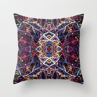baphomet Throw Pillows featuring Baphomet 5 by Kevin Kolstad