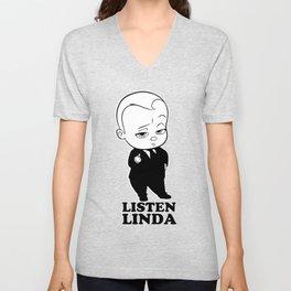 Listen Linda Unisex V-Neck