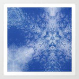 Pattern of clouds 01 Art Print