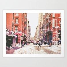 New York City Snow Soho Art Print