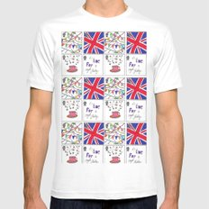A Royal Shindig SMALL White Mens Fitted Tee