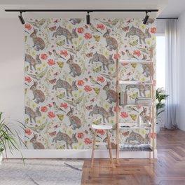 Bunny Meadow Pattern Wall Mural