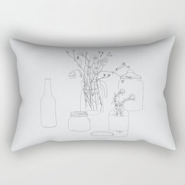 Flowers and jars Rectangular Pillow