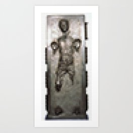 Legobrick Han Solo in Carbonite Art Print