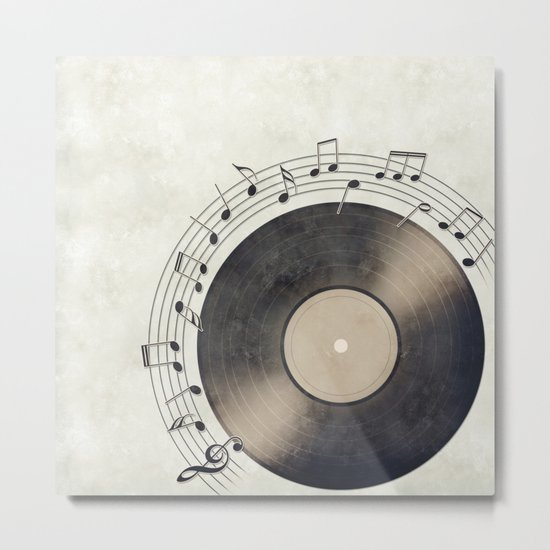 Vinyl Music Collection Metal Print