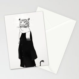 Tigress with scarf Stationery Cards