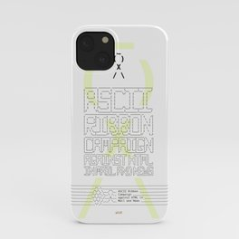 ASCII Ribbon Campaign against HTML in Mail and News – White iPhone Case
