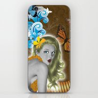 pinup iPhone & iPod Skins featuring Pinup by Sarah Churchill