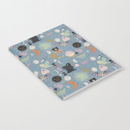 Lunar Pattern: Blue Moon Notebook