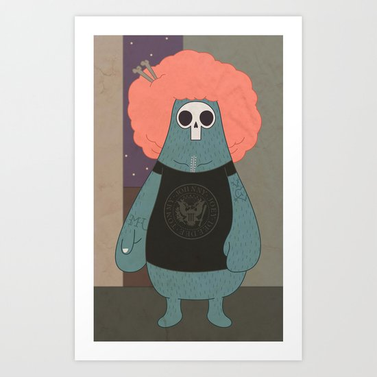 King of the streets Art Print