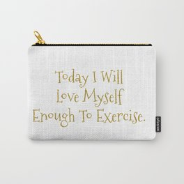 Love Myself Motivational Print Carry-All Pouch