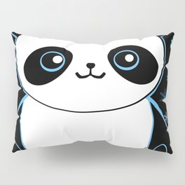 Pandacorn in the Darkness and the Snow Pillow Sham