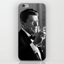 President Reagan Making A Toast iPhone Skin