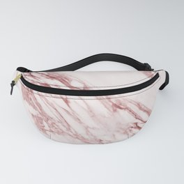 Pink Marble Pattern - Pink Marble Swirl Texture Fanny Pack