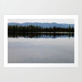 Mountain Reflection in the Lake Art Print