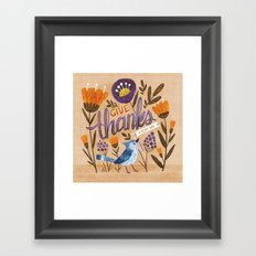 Give Thanks Every Day Framed Art Print
