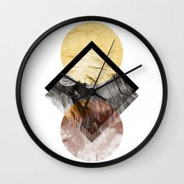 Geometric Composition 5 Wall Clock