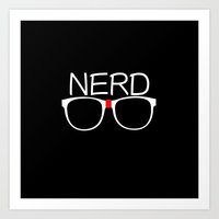 nerd Art Prints featuring Nerd by UMe Images