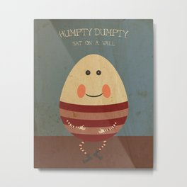 Humpty Dumpty. Children's Nursery Rhyme Inspired Artwork. Metal Print