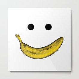 Banana Smile Metal Print