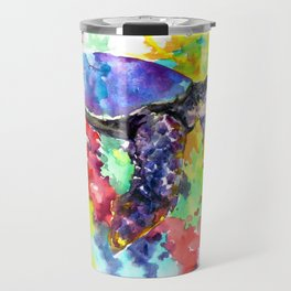 Sea Turtle in Coral Reef design, sea world colorful coral sea world design Travel Mug