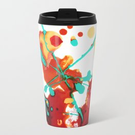 Paint Party 1 Abstract Travel Mug