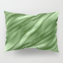 A interweaving cluster of green bodies on a violet background. Pillow Sham